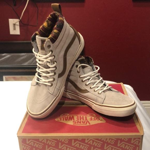 Vans Shoes - Vans- Sk8-hi MTE- Knit Geo Tan Marsh 7f0e5a894